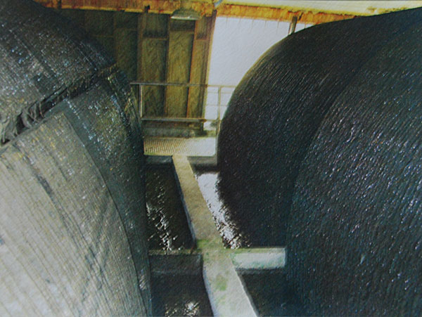 The RBC treatment system at the plant, in 2012. (Photo by Wastetreatment Department)