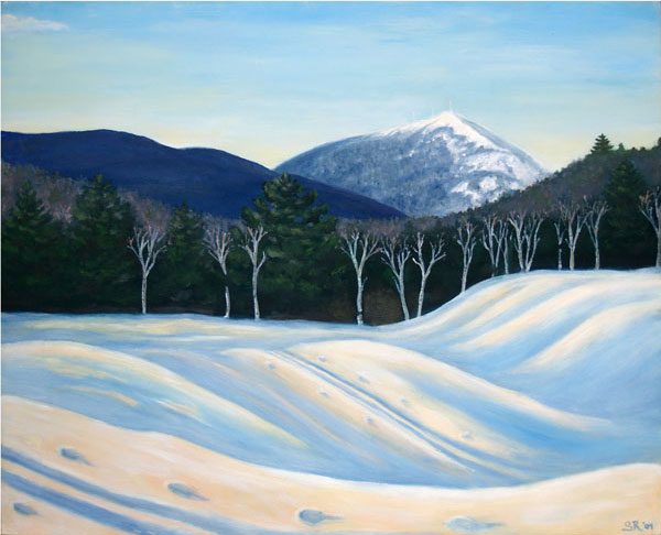 Sugarloaf Solstice, an oil painting by Saskia Reinholt. The artist initiated the process that led to the awarding of a $50,000 grant to the region.