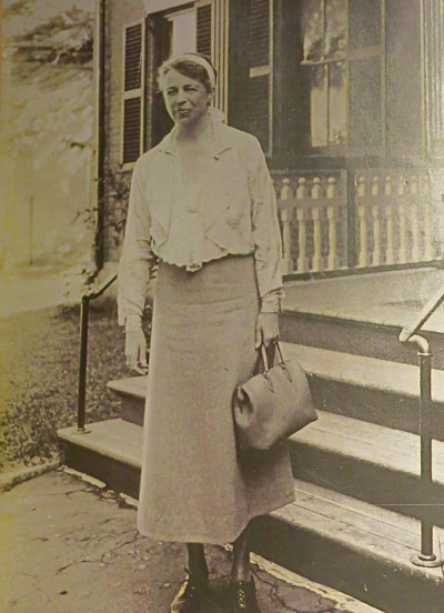 Eleanor Roosevelt visiting the Pierce House (then the Home for the Aged) while staying at the Old Exchange Hotel (now the Savings Bank across the street) as she was heading up to Rangeley to the Black Bear Camps to visit her husband. (Photo Courtesy of the Pierce House)