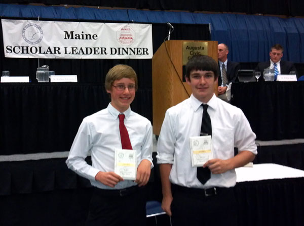 Andrew Haszko, left, and Cory Rogers at the banquet.