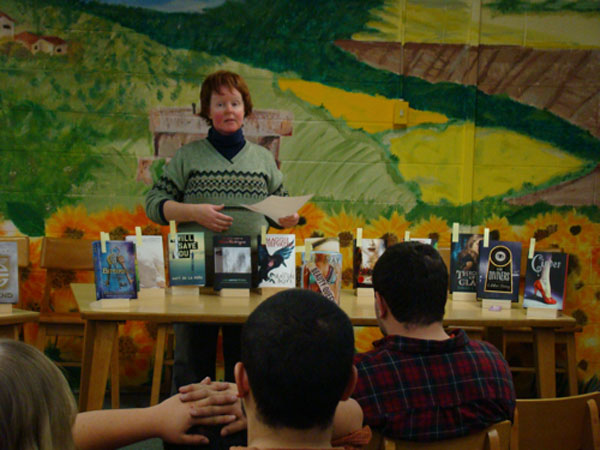 Mt. Abram High School's librarian Lori Littlefield.
