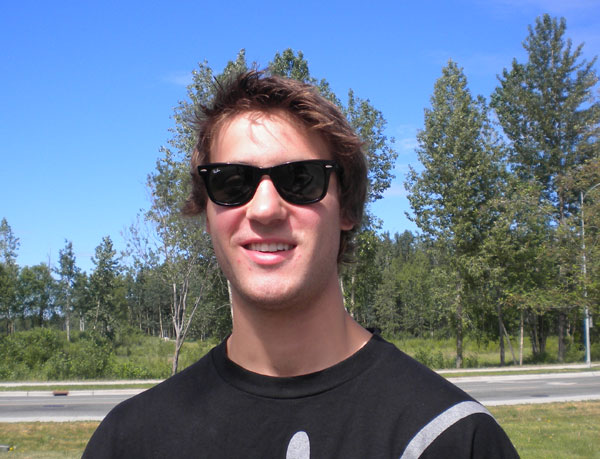 Lucas Bonnevie on the University of Alaska campus has been a volunteer with Americorps this year.