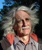 Hugh Ogden on Poet's Island in Rangeley Lake, August 2006. Lovers of poetry will gather Sunday, August 7th, 6:00pm, at Ecopelagicon, 7 Pond Street, Rangeley for the Fifth Annual Hugh Ogden Memorial Evening of Poetry. (Peggy Yocom Photo)