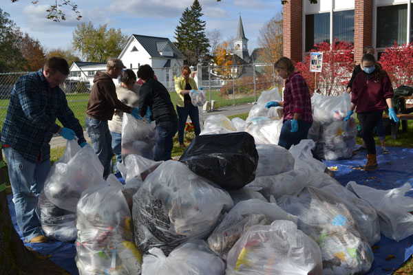 Trash Day has become a permanent fixture on the UMF campus in October.