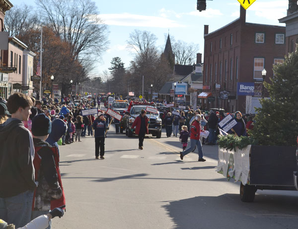 A large crowd turned out for the Chester Greenwood Day Parade on a breezy and sunny day in the mid-30s.