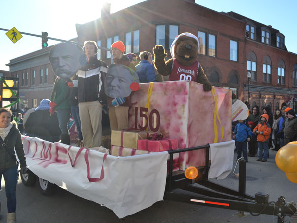 Celebrating its 150th year, the University of Maine at Farmington joined in the Chester Greenwood Day parade on Saturday.