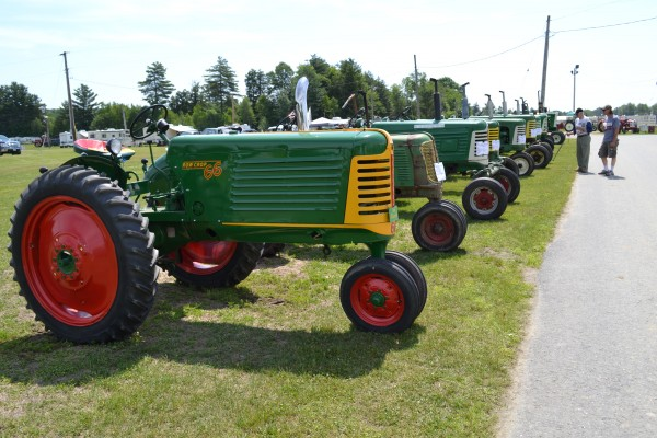 The featured tractor of the 19th annual Tractor Festival is the 1949 Oliver 77. A line of Oliver tractors greeted visitors to the event held at the Farmington Fairgrounds.