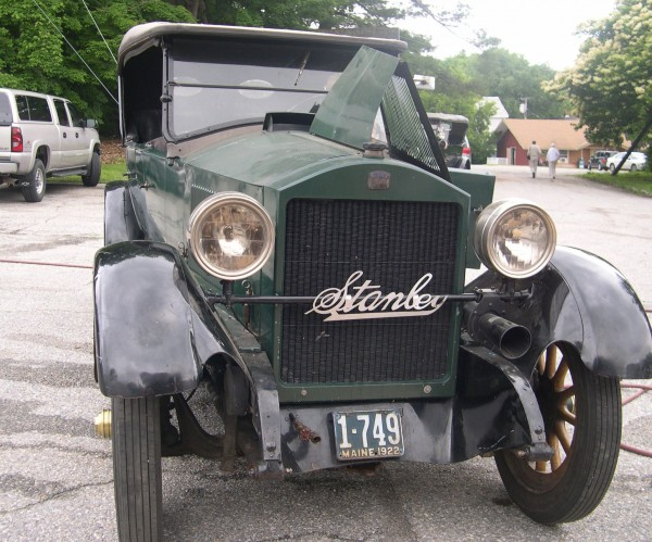 A vintage Stanley steam car, a 1922 Model 740, one of three running Stanleys to be auctioned off on Sept. 13 at the Stanley Museum Auction in Kingfield.