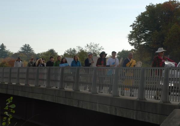 Peace walkers cross  estimated 165-mile walk