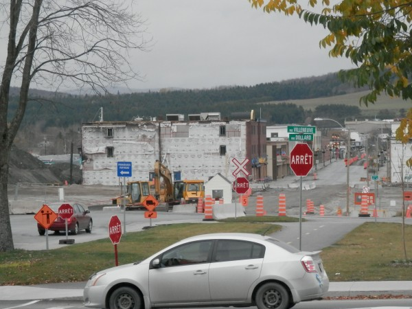 Here is the section of Lac-Mégantic where the explosion on July 6, 2013 took place. (Photo by Linda Beck)