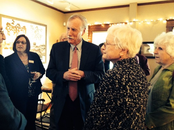 Reception for Senator King, Fulbrighters, invited campus guests, and special community guests at President Kate Foster's home