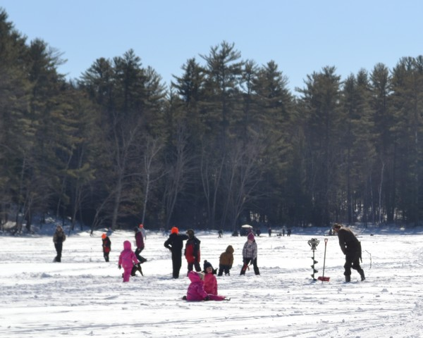 There were more than 100 participants in Cape Cod Hill School's 7th annual fishing derby on Crowell Pond Saturday.