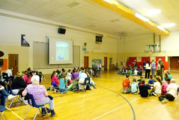Kingfield Elementary turned their Community Read project into a full-blown event last week. (Photos courtesy of Kenny Brechner)