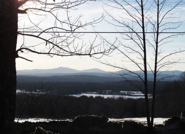 Waiting for Spring -a view from Cape Cod Hill. (Elizabeth (Stu) Mehlin/New Sharon)