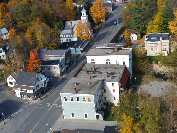 Arial view of downtown Wilton. (Photo courtesy of Susan Atwood)