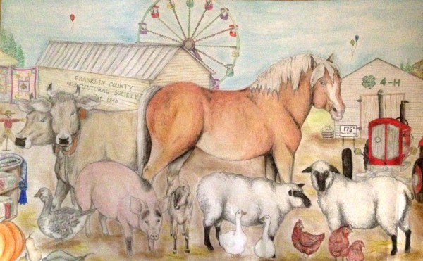 Chloe Venter, 14, has been named the winner of the 4H poster contest with her drawing of animals on the fairgrounds.
