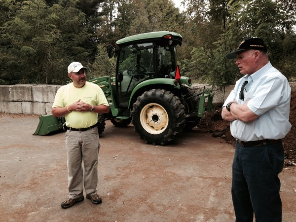Mark King, with the Department of Environmental Protection, and Professor Tom Eastler describe the operation.