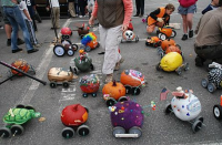 Pumpkin derby racers at Damariscotta's Pumkin Festival & Regatta held earlier this month. A similar event will be held Saturday in Wilton. http://damariscottapumpkinfest.com/Event%20Pages/PEvents%20-%20Pumpkin%20Derby.html