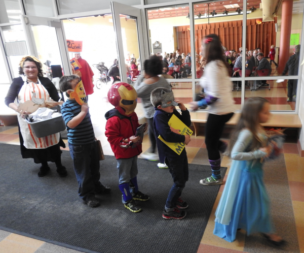 The annual Book Character parade at W.G. Mallett School brings princesses, Jedi and Iron Man to Community Book Week. (Photo by Ben Hanstein)