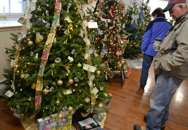 Last year's Rotary's Festival of Trees; this year's event will be held at . Trees will be auctioned off Saturday evening with proceeds going to charitable organizations.