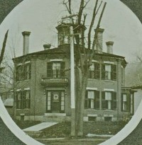 This photo of the octagon house may have been taken in 1890 or early 1900s (Photo courtesy of Steve Mallett)