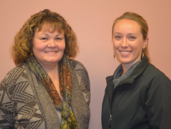 New board members: L ot R: Cindy Stevens and Kariss Richards