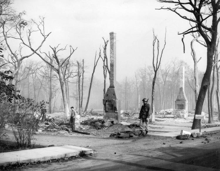 Brownfield Fire, 1947. (Photo courtesy of Jo Radner)