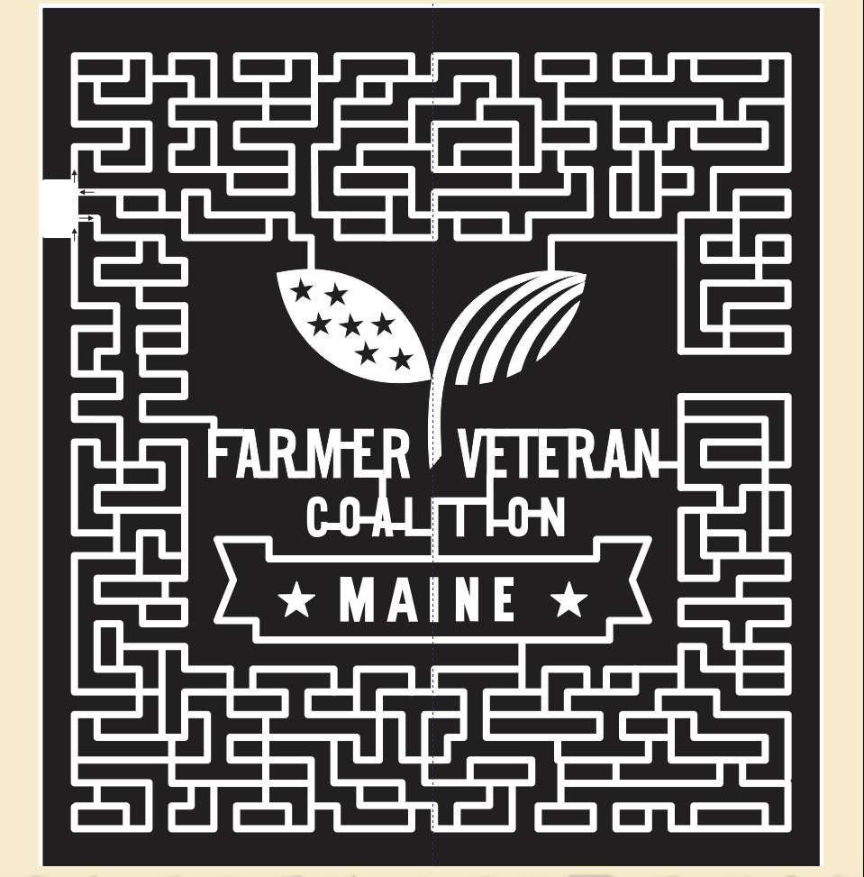 If you were to fly over the corn maize, this is the design this year.