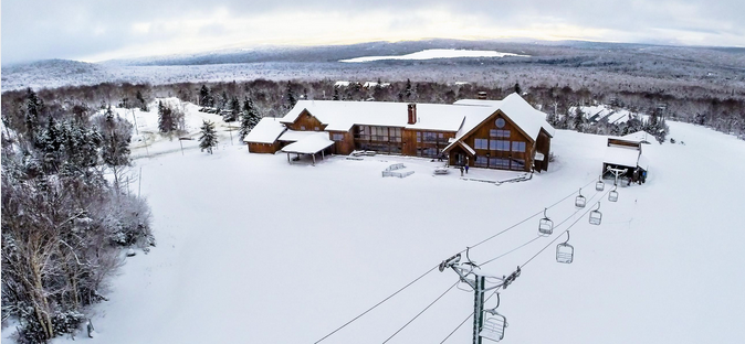 The base lodge at Saddleback Maine