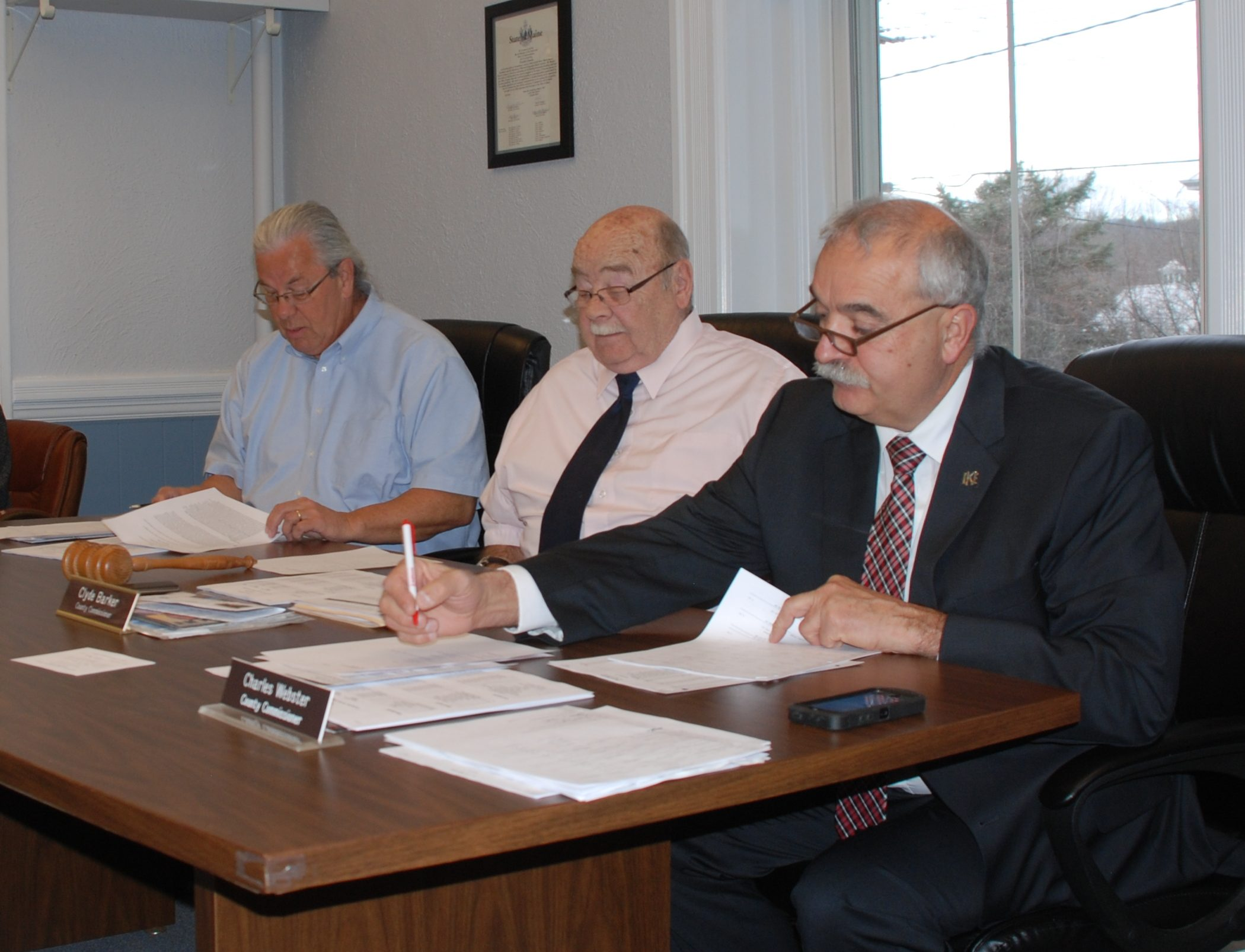 Franklin County commissioners, from left to right: