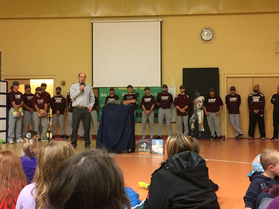The University of Maine at Farmington baseball team was a special guest to the event. With Hank Aaron on the team they figure to have a good season next year.