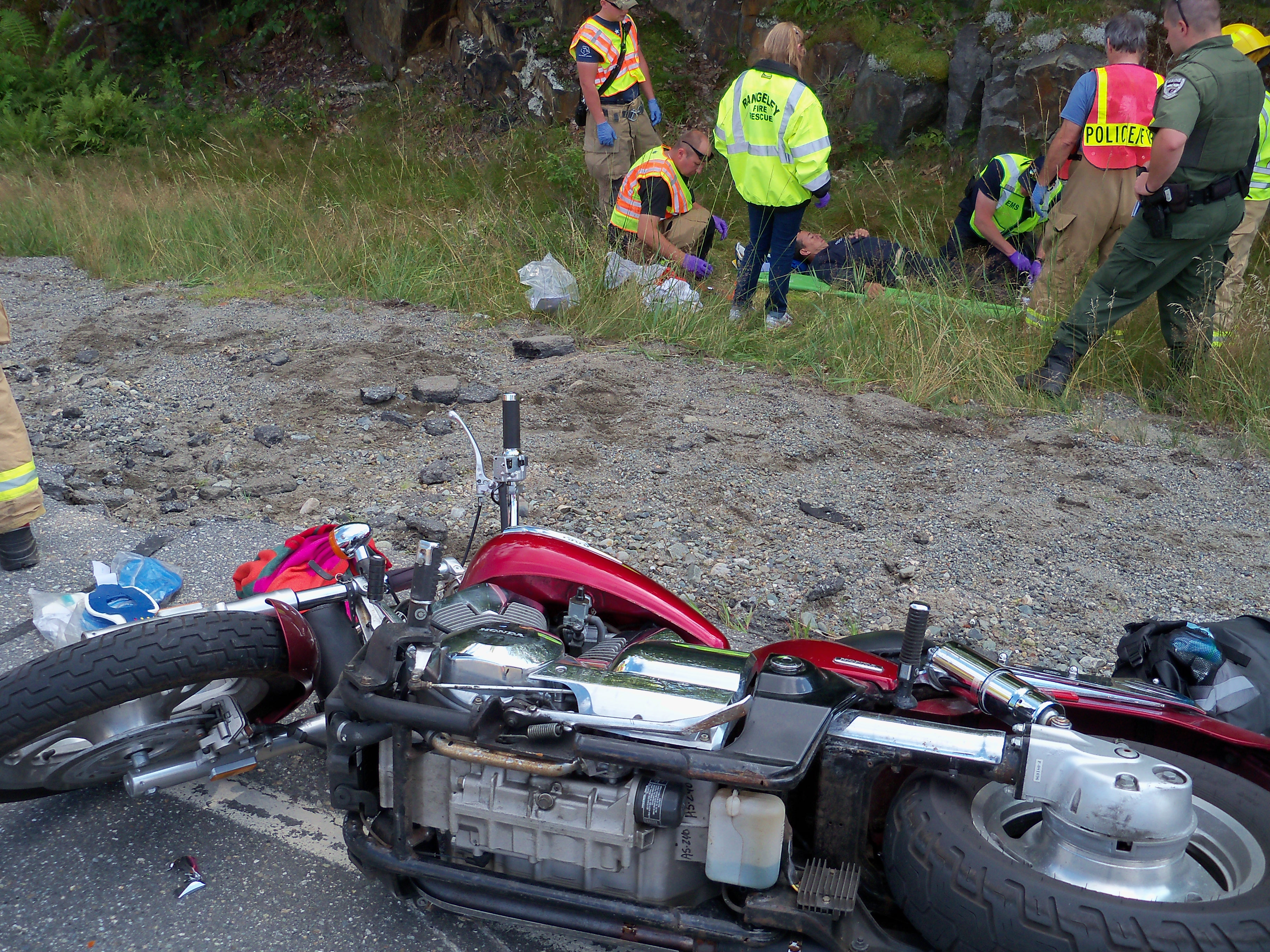 Motorcycle Crash Sends Three To The Hospital