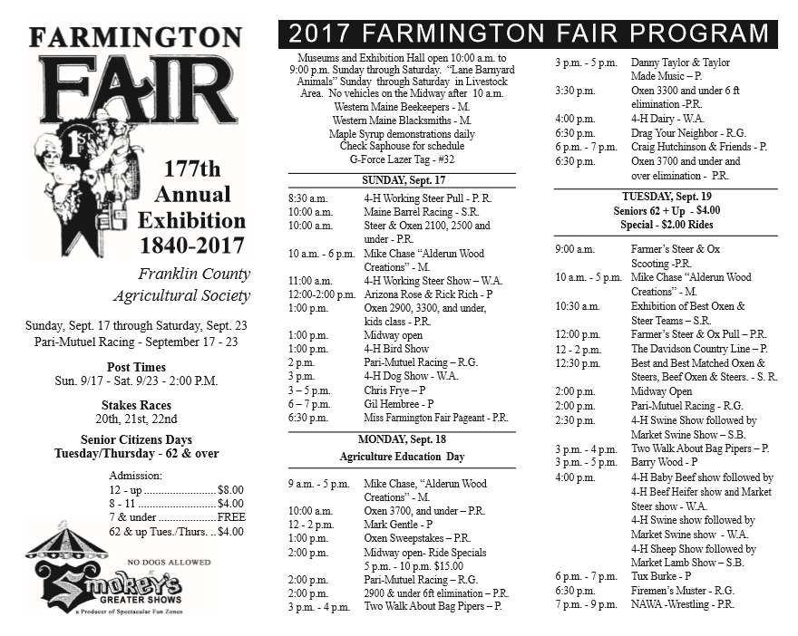 Farmington Fair starts tomorrow   Daily Bulldog