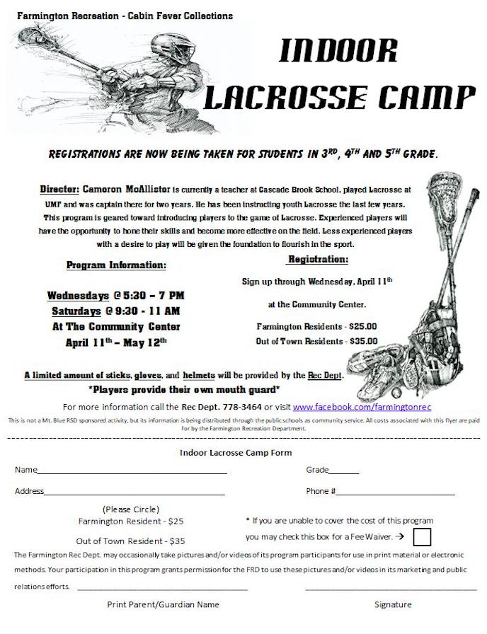 Farmington Rec  lacrosse registration available now | Daily Bulldog